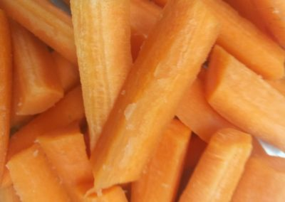 Hand Cut Carrot Wedges